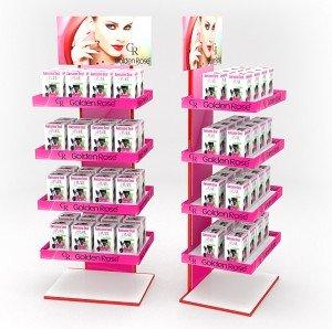 Стойка для косметики, pos, подставка для косметики, стеллаж для косметики, торговая стойка, косметика