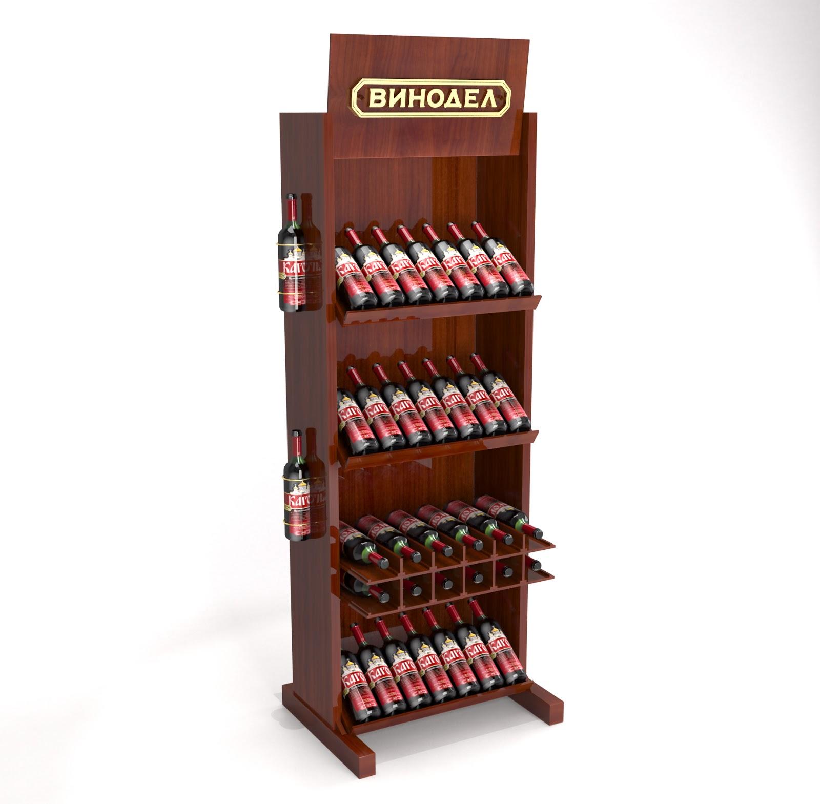 Рекламная стойка стеллаж  для вина Vinodel