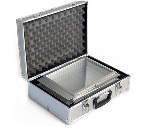 алюминиевый кейс, буклетница зигзаг чемодан, сумка для буклетницы, компатная сборка стенда