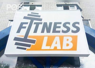 """Вывеская для магазина спортивных товаров """"fitness lab"""""""