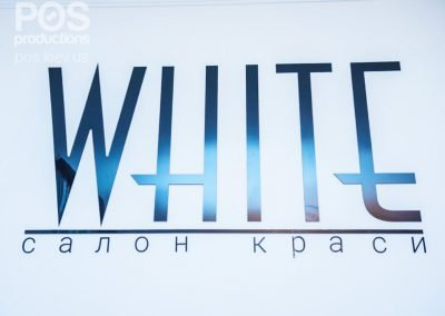 "Акриловые буквы для салона красоты ""WHITE"""