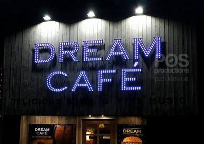 Светодиодная вывеска для кафе Dream Cafe