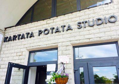 """Объемные буквы с задней подсветкой (контражур) """"Cartata Potata Studio""""/"""