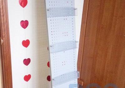 стойка для буклетов металлическая, металлическая раскладная стойка
